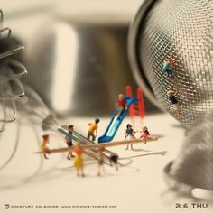 Playground. miniature photography - incredibly enchanting and surreal worlds made of little people - It's a small world afterall! Creative macro lens photography