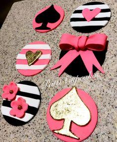 Kate Spade Inspired Fondant Cupcake Toppers facebook.com/patticupcakesandsmalltreats/