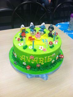 Smurf's birthday cake