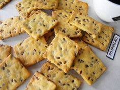 Cookies from cornmeal // aneri Coconut Desserts, Snacks Saludables, Easy Eat, Chocolate Chip Muffins, Russian Recipes, Muffin Recipes, Bakery, Good Food, Yummy Food