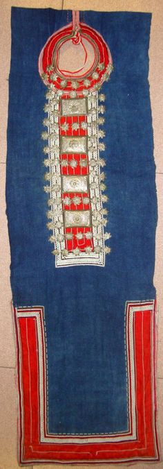 """Asian Antique : Intricately Decorated Woman """"Star Bib"""" From The Dao Hong Tu Group, Ha Giang Province, Far Northern Mountians Viet Nam #398"""