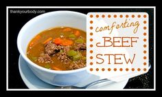 Comforting beef stew recipe. Perfect for a chilly day!