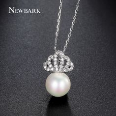 Find More Pendant Necklaces Information about NEWBARK Crown With Imitation Pearl…