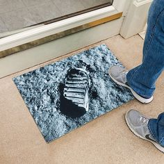 The One Small Step Doormat brings to your doorstep man's first step on real estate that's not on this world.