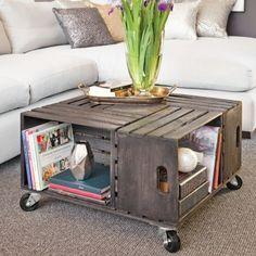 En étapes: une table à café en caisses de bois - En étapes - Décoration et rénovation - Pratico Pratique