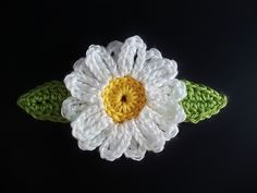 "crochet ""Daisy Dukes"" flower....I am eyeing it...I think that I can duplicate it on my own."
