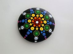 Made to order! Cheery and bright, hand painted rocks, mandala stones in red yellow orange blue teal green purple amethyst, all the colors of…