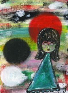 "Daily Paintworks - ""She Dreams"" by Kali Parsons - Original Fine Art for Sale - Acrylic - © Kali Parsons - http://kaliparsons.blogspot.com"