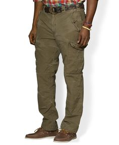 687b76ff94d Polo Ralph Lauren Big and Tall Classic-Fit Ripstop Cargo Pant   Reviews -  Pants - Men - Macy s