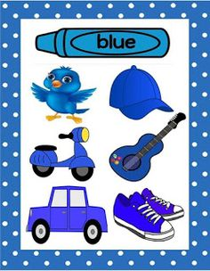 Spring Activities Kindergarten Math and Literacy Cut and Paste Worksheets Autism Color Blue Activities, Color Activities For Toddlers, Color Worksheets For Preschool, Preschool Colors, Teaching Colors, Preschool Learning Activities, Free Preschool, Spring Activities, Kindergarten Math