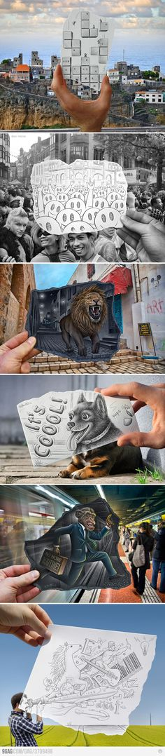 Vs Camera lvl: Ben Heine Pencil Vs Camera lvl: Ben Heine this is so awesomePencil Vs Camera lvl: Ben Heine this is so awesome Amazing Drawings, Cool Drawings, Amazing Art, Awesome, Ben Heine, Street Art, Art Design, Art Plastique, Love Art