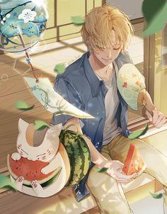 Kawaii Illustration, Cute Anime Pics, Anime Love, Natsume Takashi, Nyan Nyan, Hotarubi No Mori, Friend Anime, Natsume Yuujinchou, Horimiya