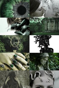 I'm half slytherin 💚 Witch Aesthetic, Aesthetic Collage, Character Aesthetic, Wiccan, Witchcraft, Writing Inspiration, Character Inspiration, Ange Demon, Slytherin Aesthetic