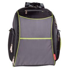Fisher Price Urban Backpack Diaper Bag - Black Lime Grey Fisher Price,  Beautiful 88071e3bd5