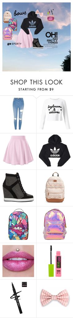 """Sporty Style"" by jackieswift04 on Polyvore featuring River Island, Miss Selfridge, adidas, Jimmy Choo, Rip Curl, Sprayground and Maybelline"