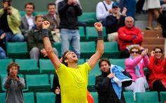 Juan Martin Del Potro celebrates Roland Garros victory