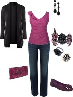 """Purple and Black (kristen-344) - Cheapskate version"" by centricity on Polyvore"