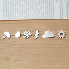 weather forecast earring studs set of 6 ear studs in by huiyitan