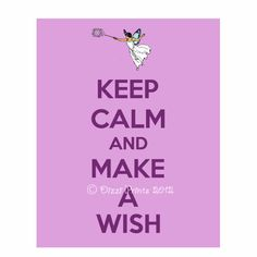 Fairy Poster, Fairies, Keep Calm and Carry on Poster.