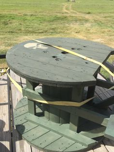 Shooting bench made out of big wooden spools - AR15.COM                                                                                                                                                                                 More