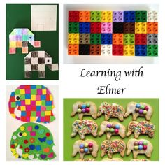 I have used Elmer by David McKee many times to promote learning. It's particularly good to use for a topic about colour or to stimulate numeracy activities. Letter E Activities, Numeracy Activities, Color Activities, Kindergarten Activities, Preschool Activities, Elmer The Elephants, Literacy Skills, Project Based Learning, Children's Literature