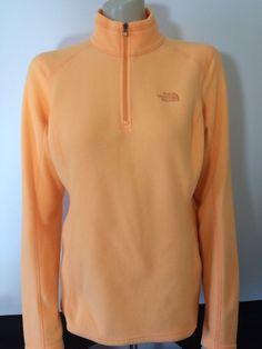 The North Face Women's 1/4 Zip Impact Orange Fleece Pullover Jacket Medium #TheNorthFace #FleeceJacket #Outdoor