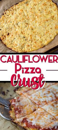 Cauliflower pizza crust-great low carb and gluten free option. Great way to get kids to eat their vegetables! Cauliflower pizza crust-great low carb and gluten free option. Great way to get kids to eat their vegetables! Califlour Pizza Crust, Best Cauliflower Pizza Crust, Califlower Pizza Crust Recipe, Recipes Using Riced Cauliflower, Zucchini Pizza Crust, Pizza Pizza, Cake Recipes Uk, Baking Recipes, Califlour Recipes