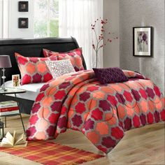 Chic Home Theo 9-Piece Luxury Bed-In-A-Bag Reversible Comforter Set - Walmart.com