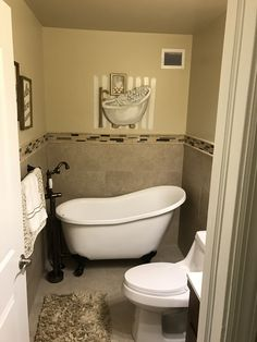Clawfoot tub in a small bathroom bathroom in 2019 pinterest small tub clawfoot tub for Small clawfoot tubs for small bathrooms