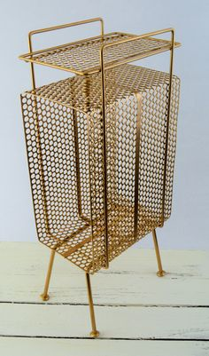 Mid Century Metal Mesh Telephone Stand by GenerationUpcycle on Etsy