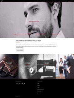 Webdesign für Dressed by Alex Risch Dutch Tailor Web Design, Dutch, Website, Web Design Projects, Weaving, Dutch People, Website Designs, Site Design