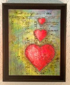 "I love the concept of this art via Etsy ""She kept a ledger in her Heart"". Beautiful!"