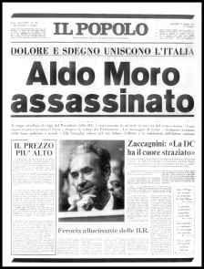 Italia 1978 - Rapimento e delitto di Aldo Moro da parte delle Brigate Rosse