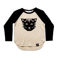 Kapow Kids Tiger LS Drop Back Top online at A Little Bit of Cheek