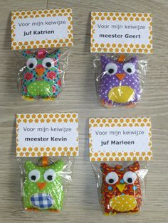 Jij bent kei WIJS!, maar dan 'Jij bent een echt boekenbeest!' (kan een ander diertje) Cool Gifts, Diy Gifts, Felt Owls, Original Gifts, Diy Toys, Teacher Gifts, Sewing Projects, Crafts For Kids, Presents