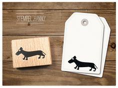 Stempel+Dackel+Hanno+von+cats+on+appletrees+auf+DaWanda.com