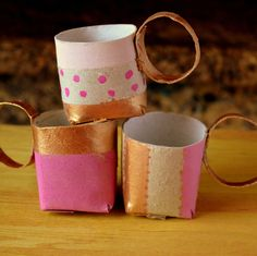 DIY coffee mugs or tea set out of paper rolls!