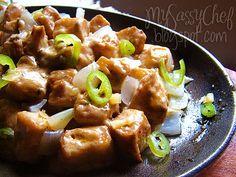 Sizzling Tofu Sisig. A vegetarian take on the famous Filipino dish.