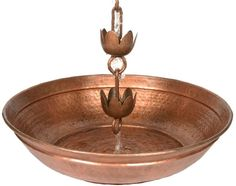 Perfectly compliment your rain chain with this elegant splash basin. Rain water will trickle down the chain into this basin creating a smoothing sound. Garden Ornaments, Garden Accessories, Basin, Plating, Home And Garden, Ceiling Lights, Modern, Grass, Exterior