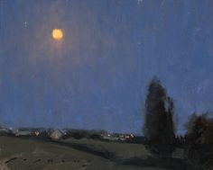 """""""Moonlight Over the Loire Valley"""", oil on linen, 8"""" x 10"""", by Jeremy Lipking"""