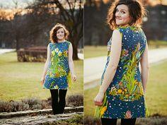 pretty dress with pattern
