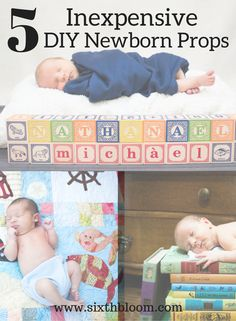 Photography Tips | 5 Inexpensive DIY Props for Newborn Pictures, Newborn pictures, Newborn props