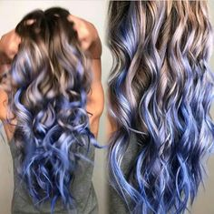 Blue colored hair