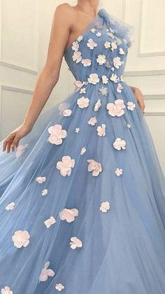 Pretty Prom Dresses, Tulle Prom Dress, Prom Dresses Blue, Event Dresses, Formal Evening Dresses, Dance Dresses, Ball Dresses, Cute Dresses, Beautiful Dresses