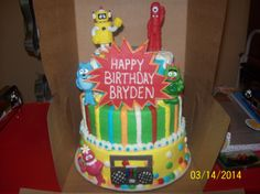Yo Gaba Gaba Cake by Jayme Sue's Cakes this is my mom's friend she makes amazing cakes I'm trying to spread her around