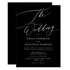 Classy Wedding Invitations, Wedding Invitation Cards, Black And White Wedding Invitations, Wedding Black, Invites, Dream Wedding, Different Wedding Ideas, Wedding Stationery Inspiration, Wedding Mood Board
