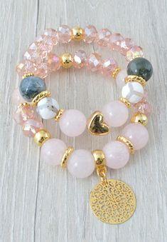 Muy Grueso Aluminio Perlas Y Cuero necklace-adjustable O Broche