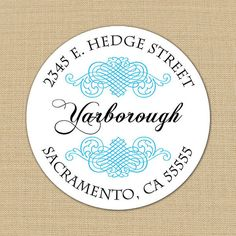 Aged Flourish - Custom Address Labels or Stickers by PoshGirlBoutique