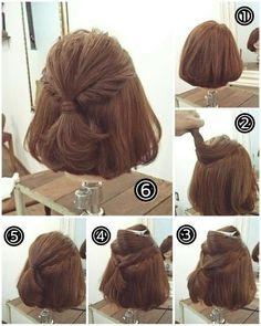 Haarpflege « Ideen Fürs Haar in 2020 Medium Hair Styles, Short Hair Styles, Hair Arrange, Short Hair Updo, Pinterest Hair, Hair Day, Hair Designs, Up Hairstyles, Hair Lengths