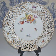 ANTIQUE CT CARL TIELSCH  PIERCED PLATE MADE IN GERMANY